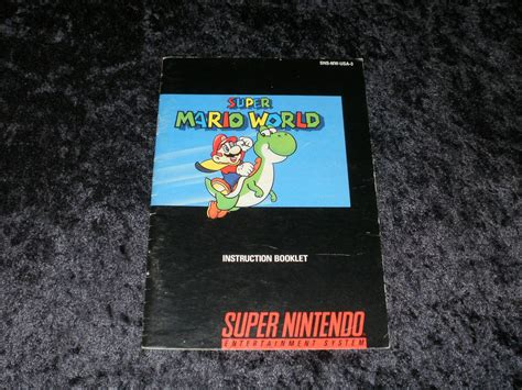 Super Mario World Snes Super Nintendo 1991 Manual Only