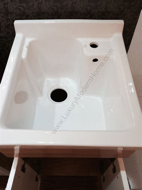 laundry room tub sink modern 18 quot small laundry utility sink mop slop oak hardwood ceramic wood ebay