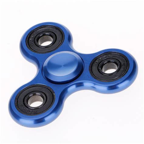 Spinner Metal fidget spinner edc tri spinner aluminum material blue