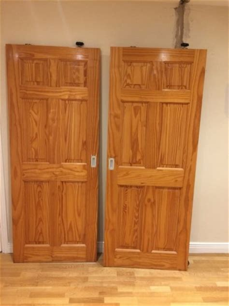2 varnished pine doors for sale for sale in whitehall