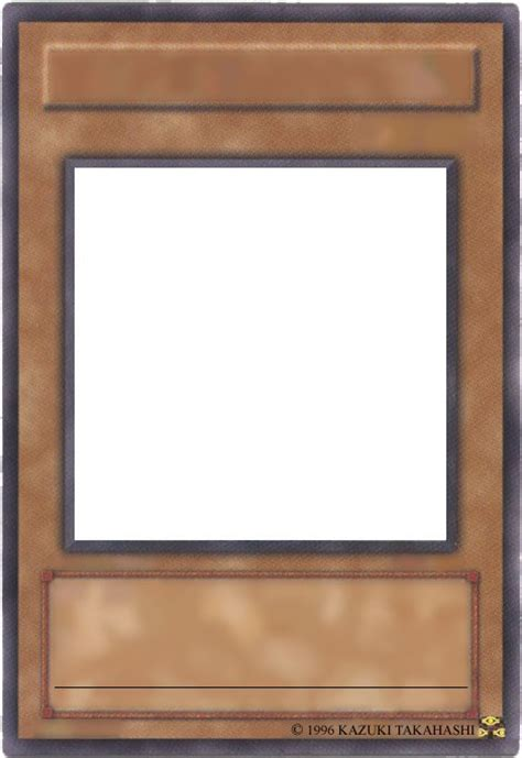 Blank Yugioh Card Template by Blank Yu Gi Oh Cards 1 By Pharaoh Yami On Deviantart