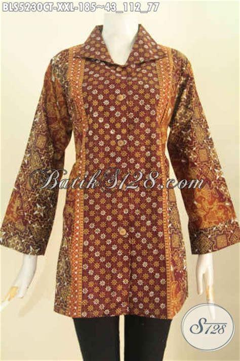 Blus Batik Cap Thalia Payet Jumbo baju batik jumbo model kerah kotak blus batik elegan halus proses cap tulis spesial buat
