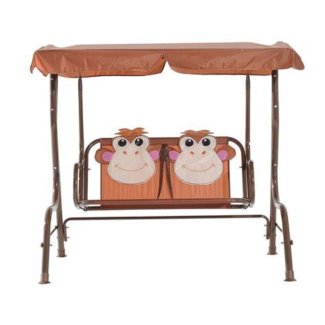 childrens swing seats homcom children s 2 seater swing seat monkey swing