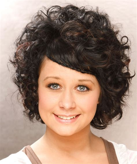curly hairstyles casual short curly casual braided hairstyle black hair color
