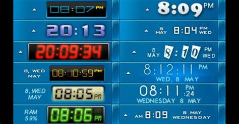 clock themes for xp free download free desktop clock download