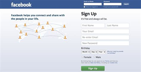 Fb Home by Login Page