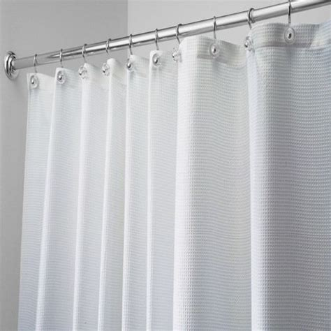 96 Shower Curtain by Carlton White Weave 96 Quot Fabric Shower