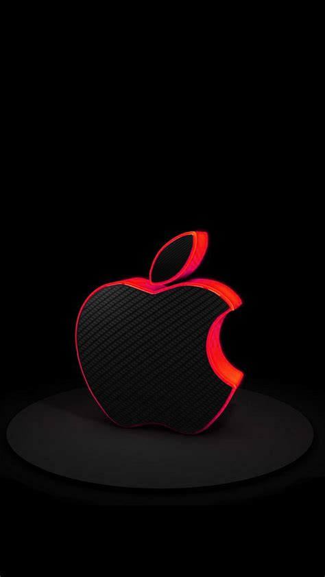 red carbon fiber apple apple iphone  hd wallpapers