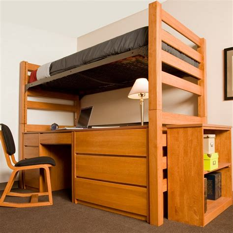 lofted bed dorm university loft graduate series twin xl open loft bed wild