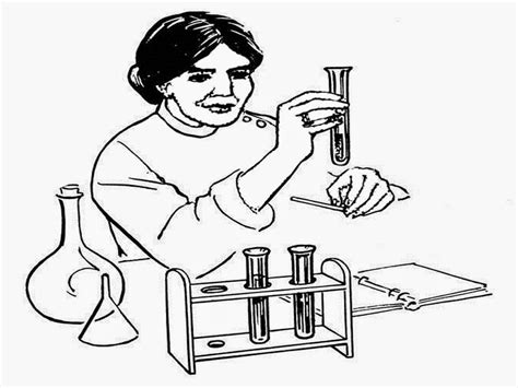 Scientist Coloring Pages To Print Scientist Coloring Pages