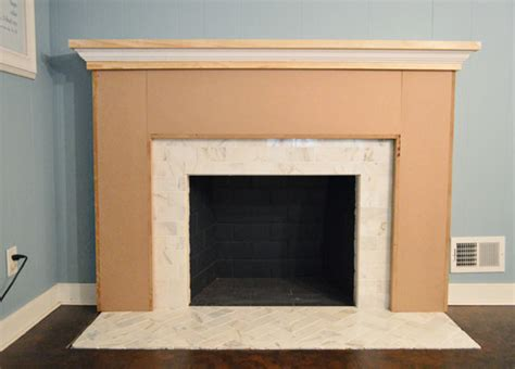 our fireplace makeover building a new mantel