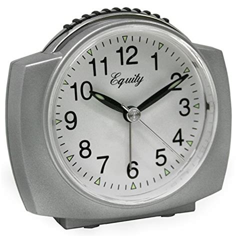 equity by la crosse 27006 battery operated analog alarm clock silver new ebay