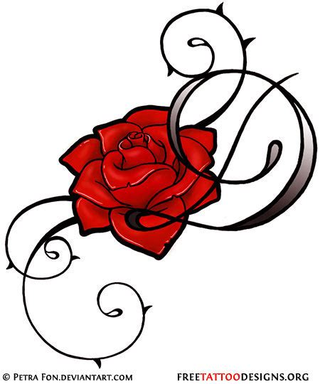 rose with tribal tattoo designs 50 tattoos meaning