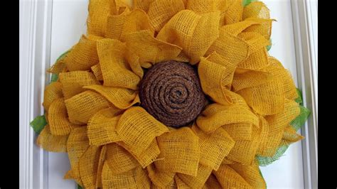 printable instructions to make a burlap wreath how to make a burlap sunflower wreath