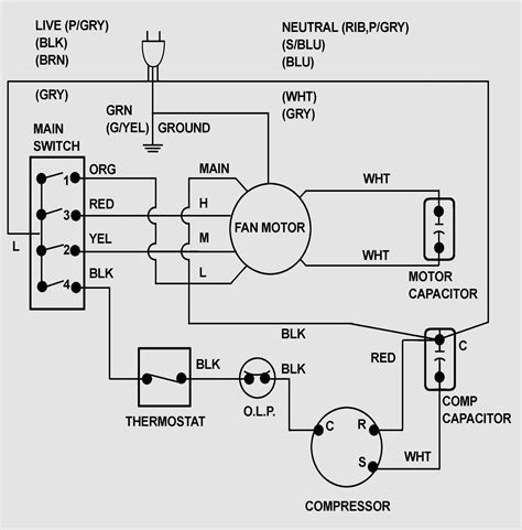 whirlpool window air conditioner wiring diagram wiring
