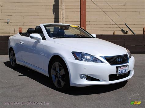 lexus convertible 2010 2010 lexus is 250c convertible in starfire white pearl