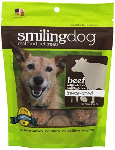 dogs and celery herbsmith smiling freeze dried beef with potato carrot and celery treats for dogs