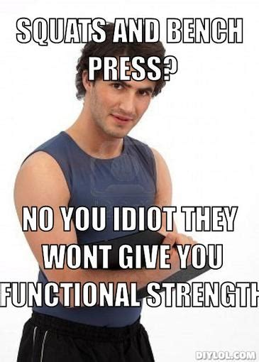 bench meme personal trainer heavy athletics nutrition