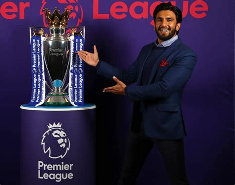 epl in india bollywood star ranveer to promote english premier league