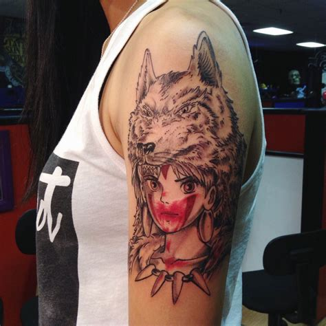 tattooed princess princess mononoke submit your here tattoos