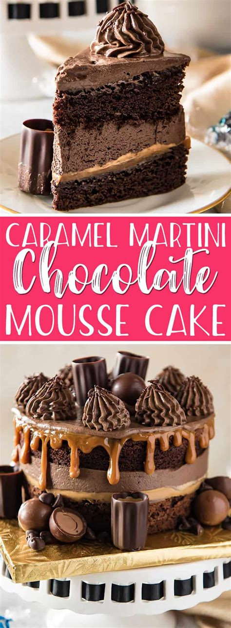chocolate caramel martini caramel martini chocolate mousse cake the crumby kitchen
