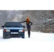 Lada VAZ Girl In The Snow  1967 MGB GT