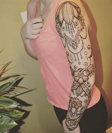 indian henna tattoo sleeve henna sleeve makedes