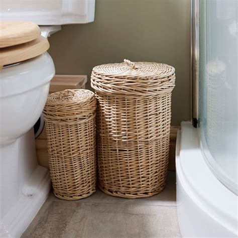 Bathroom Baskets Wicker Laundry Baskets Be Inspired By This Rustic