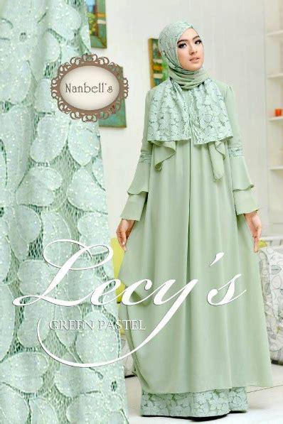 Koleksi Baju Muslim Terbaru 2016 Koleksi Busana Muslim Wanita Kombinasi Renda Brokat