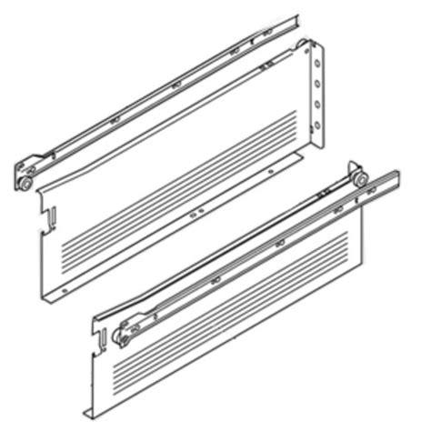 Blum Cabinet Drawer Slides by Blum Metabox Slide 6 Quot H X 18 Quot L White W Front Fix
