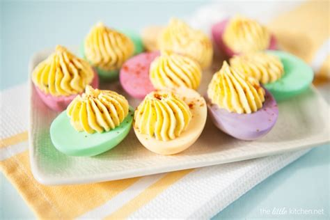 Mint Green And Red Kitchen - deviled eggs recipe the little kitchen