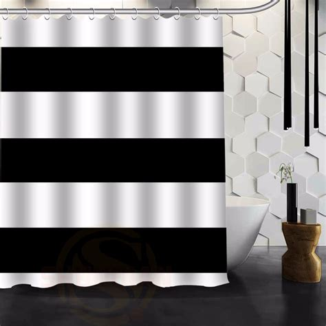 black and white horizontal striped shower curtain online buy wholesale horizontal stripe shower curtain from