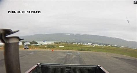 Car Hire Iceland Akureyri Airport Devastating Moment Light Aircraft Crash Lands In