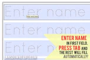 Name Templates For Preschool by 6 Best Images Of Printable Traceable Names Free