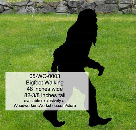 bigfoot wood pattern bigfoot walking yard art woodworking pattern
