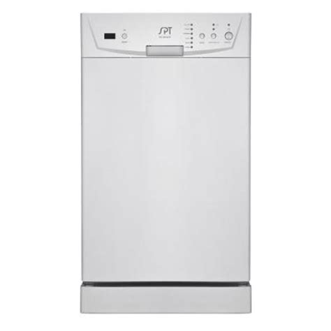 Dishwasher Rack Repair Home Depot by Spt 18 In Built In Dishwasher In White Sd 9252w The