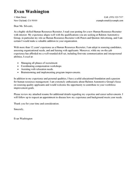 how to make a cover letter for employment best recruiting and employment cover letter exles