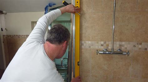 Installing A New Shower made to measure shower door survey installation service