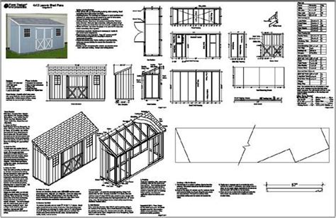 guide free lean to shed design nosote 4 x12 slant lean to style shed plans see sles ebay