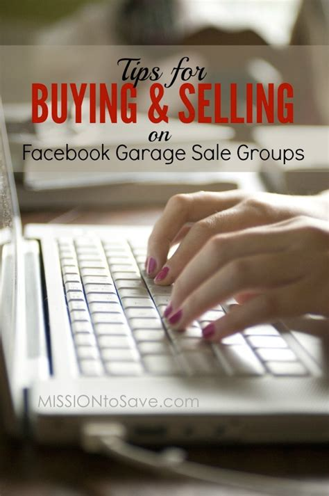 How To Make Money Out Of Your Garage by Tips For Buying Selling On Garage Sale Groups