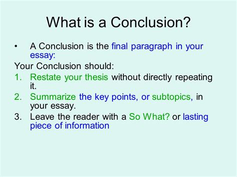 thesis in three conclusions ppt
