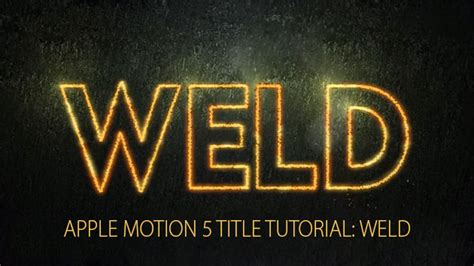 typography motion tutorial part 1 apple motion 5 title tutorial weld apple motion tutorial