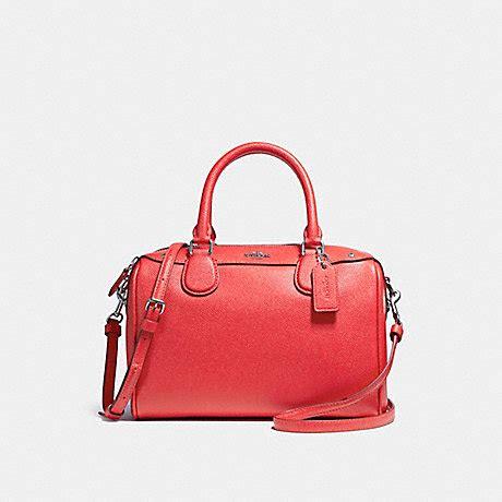Coach Bennet Mini F57521 Crossgrain Satchel Bright coach f57521 mini satchel in crossgrain leather silver bright coach handbags