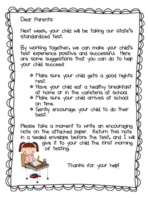 Can I Start Taking Classes Before My Mba by Standardized Testing Parent Letter Freebie New