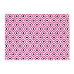 Pink And Blue Area Rug Pink And Navy Blue Ikat Diamonds 5 X7 Area Rug By Mcornwallshop