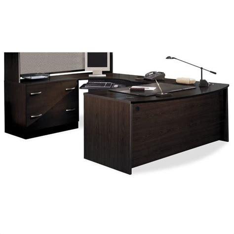 3 piece corner desk bush business series c 3 piece u shape bow front corner