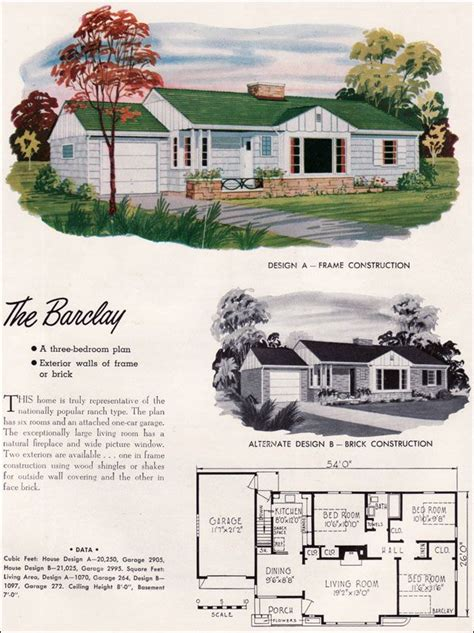 mid century ranch house plans 1000 images about floor plans and elevations on pinterest