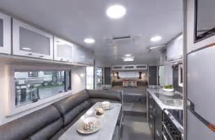 Kitchen Design With Black Appliances Classic Caravans For Sale Melbourne Supreme Caravans