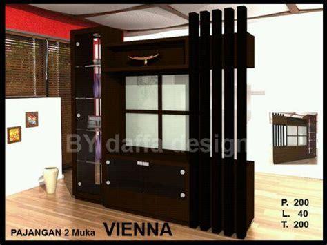 Lemari Tv Lemari Minimalis Partisi Ruangan Model Lemari Tv daffa lemari pajangan 2 muka vienna kemenangan jaya furniture