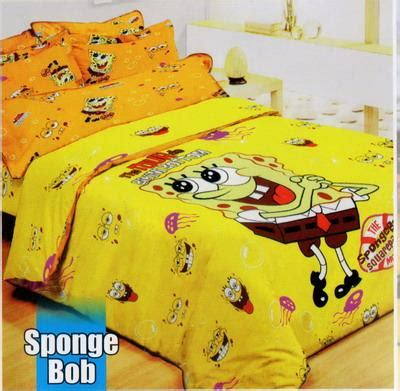 Sarung Bantal Guling Spongebob bed cover grand shyra 171 grosir sprei murah